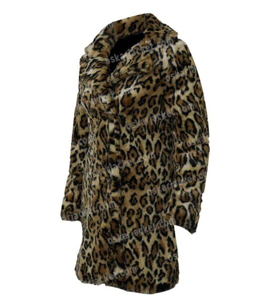 Yellowstone S02 Beth Dutton Leopard Print Fur Coat Left