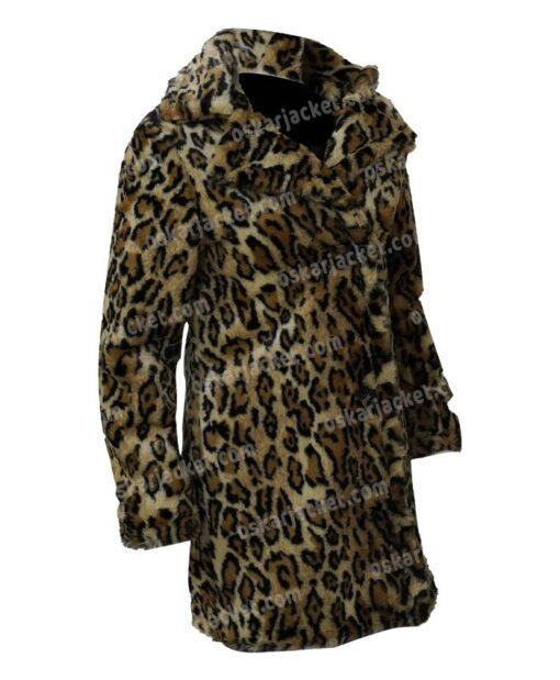 Yellowstone S02 Beth Dutton Leopard Print Fur Coat Right