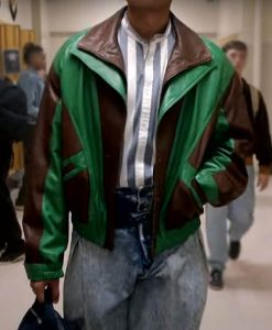 Young Rock Dwayne Johnson Two Tone Leather Jacket 2
