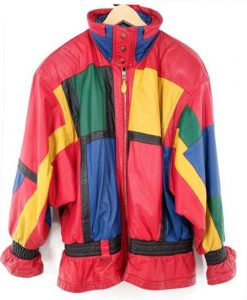 Young Rock Lexie Duncan Colorblock Leather Jacket Front